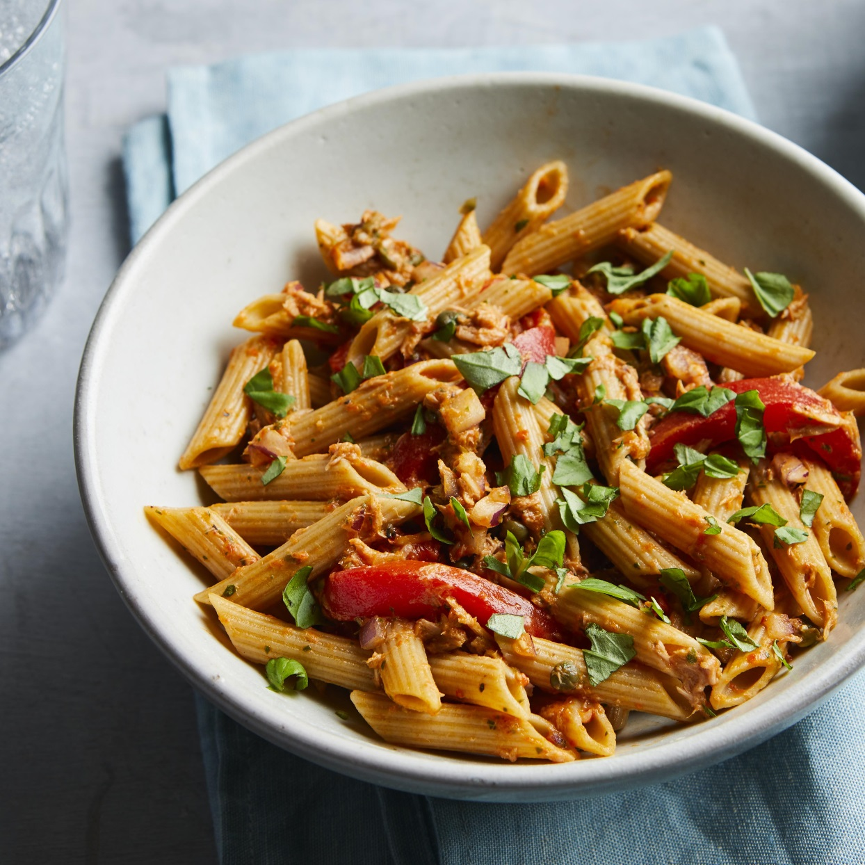 Pasta, Tuna & Roasted Pepper Salad