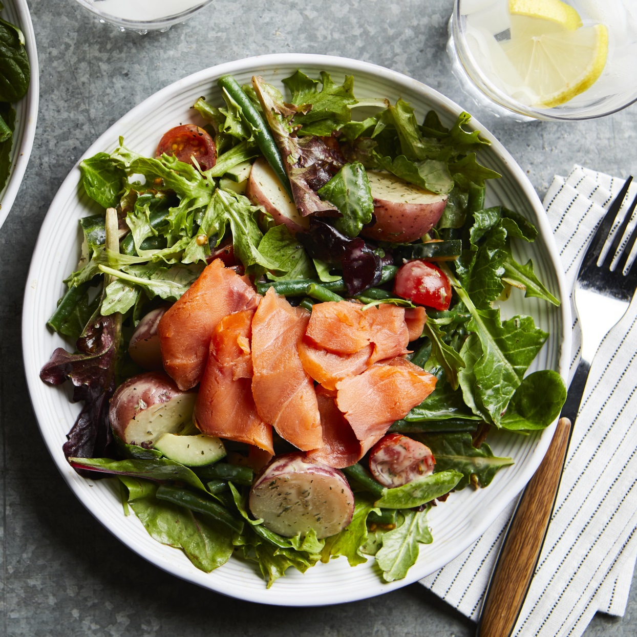 Smoked Salmon Salad Nicoise