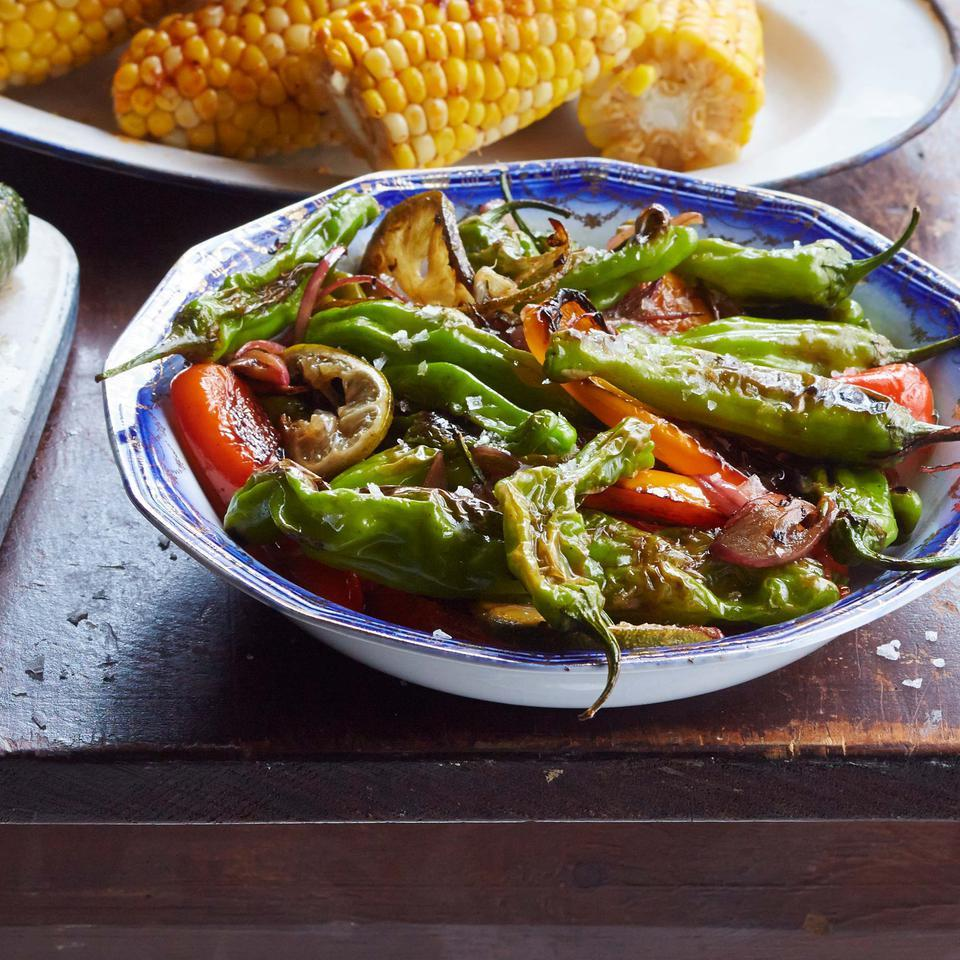 Blistered Peppers with Lime