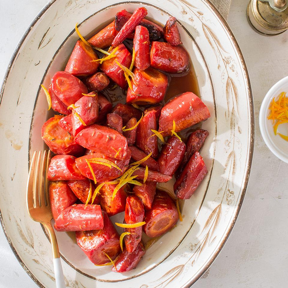 Orange-Caraway Glazed Carrots