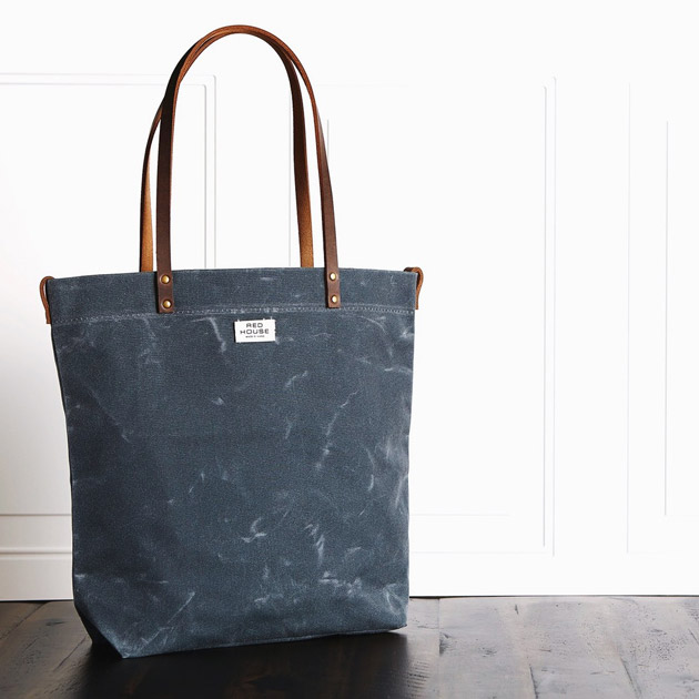 Waxed Canvas Tote Bag from Red House