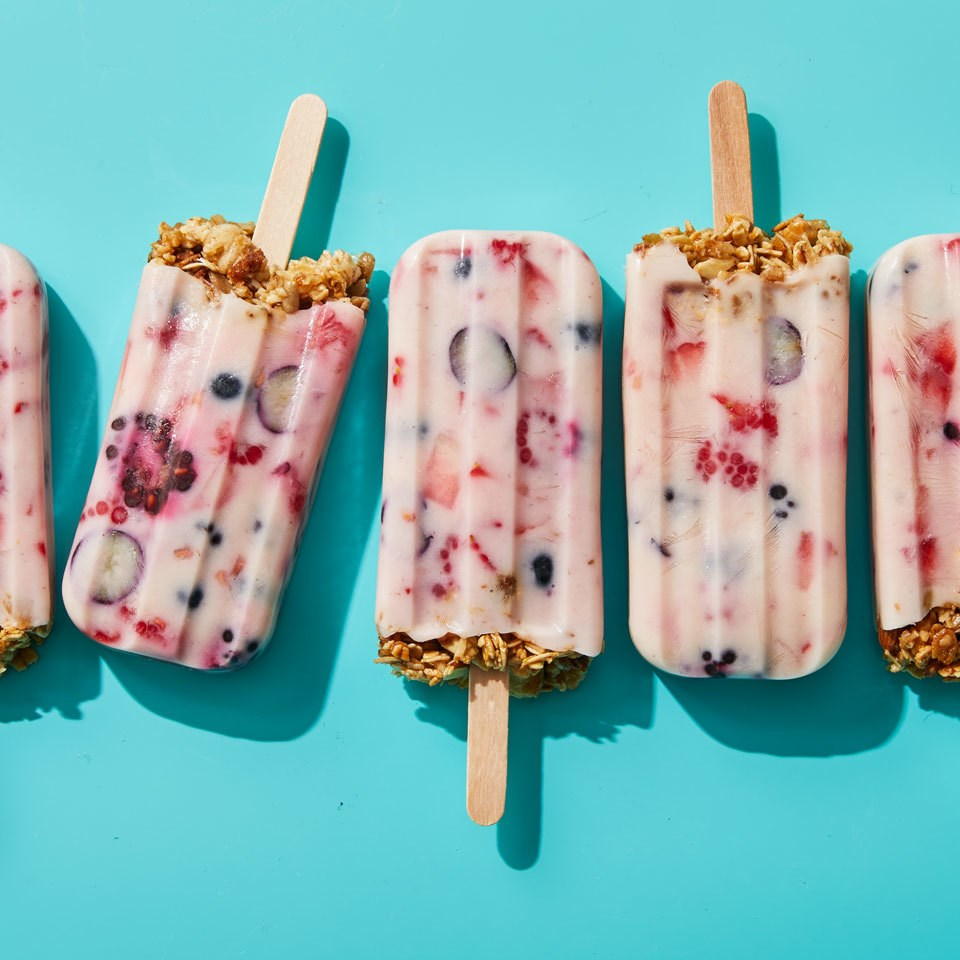 Granola & Yogurt Breakfast Popsicles
