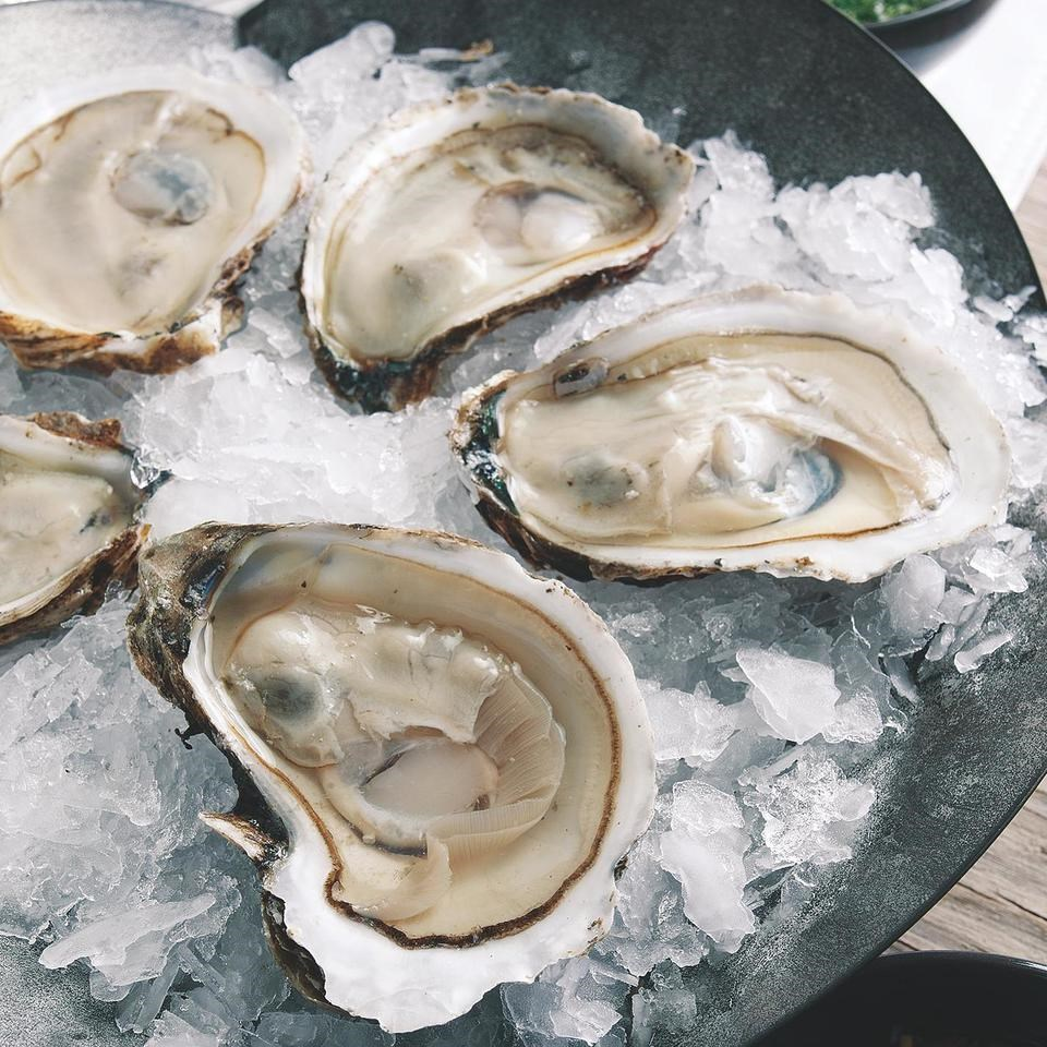 Oysters on the Half Shell with Hog Wash