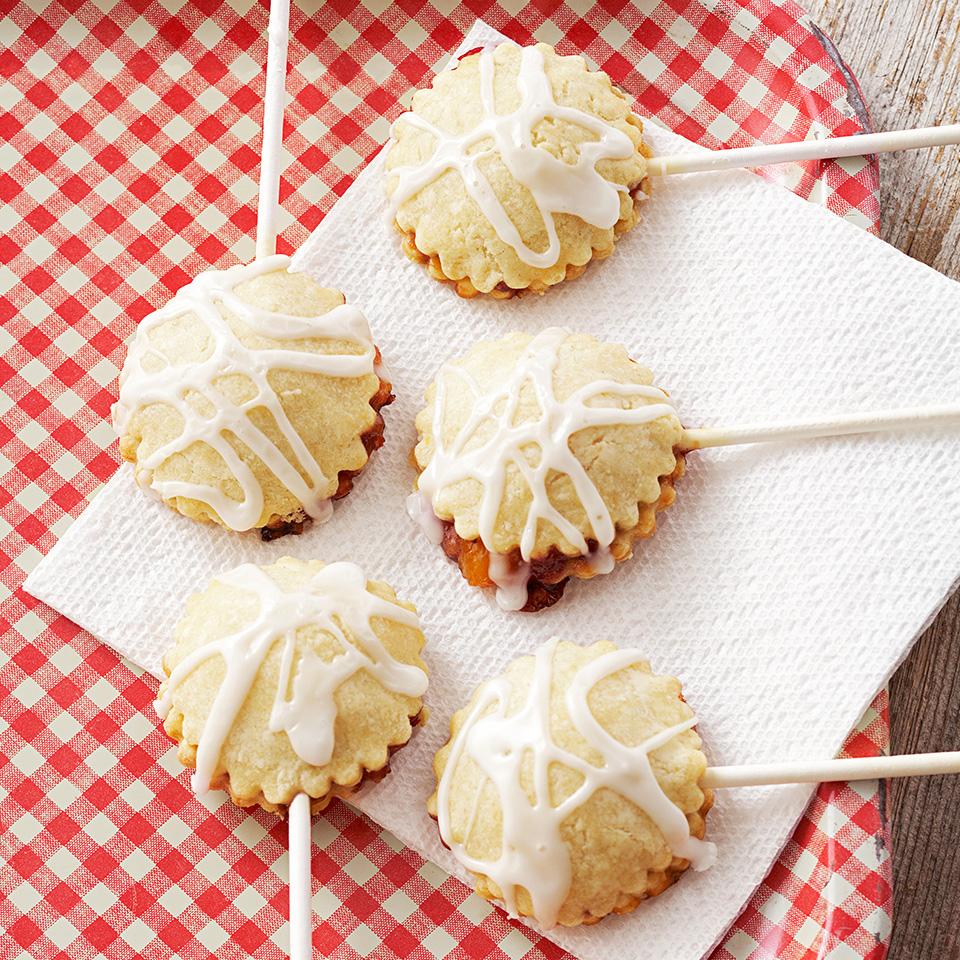Peach Melba Pie Pops