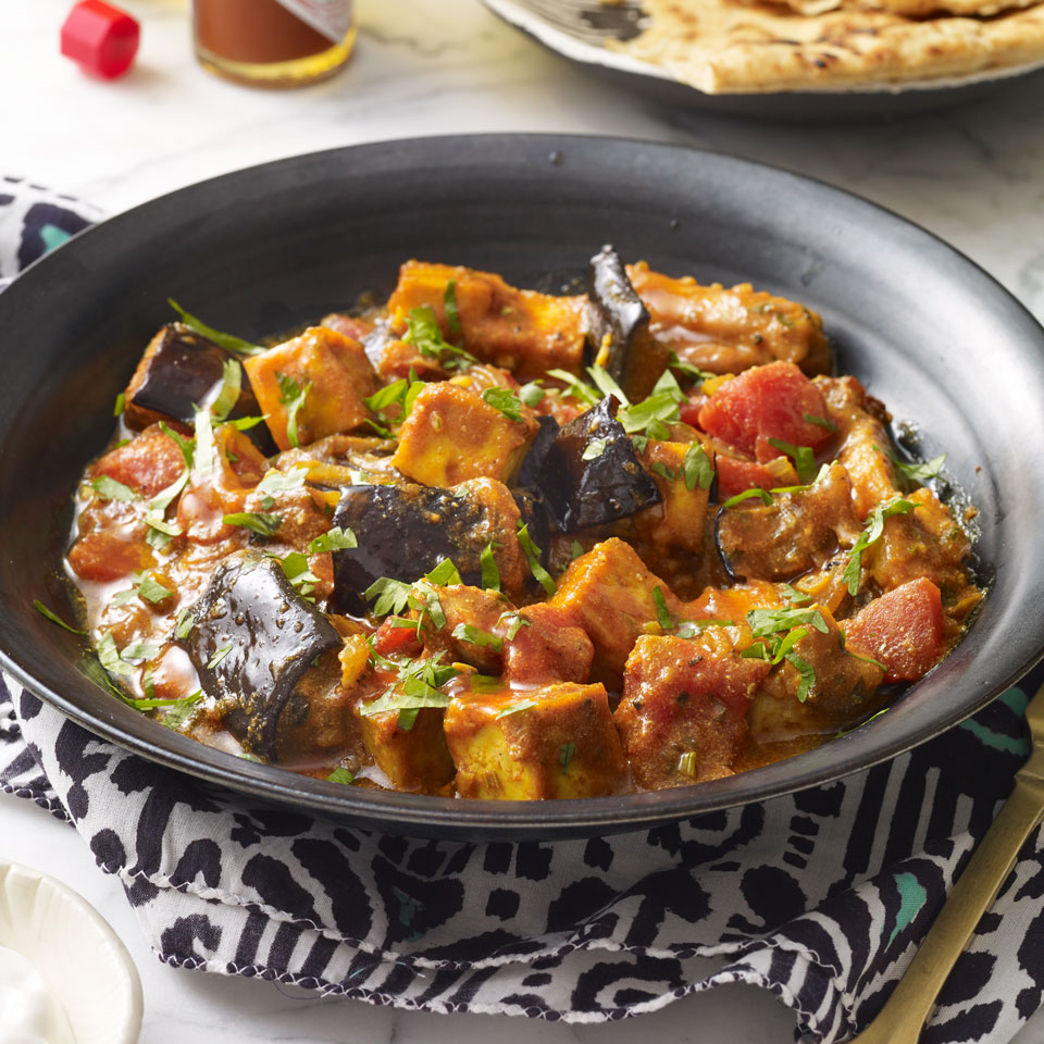 Tofu, Chicken & Eggplant Curry