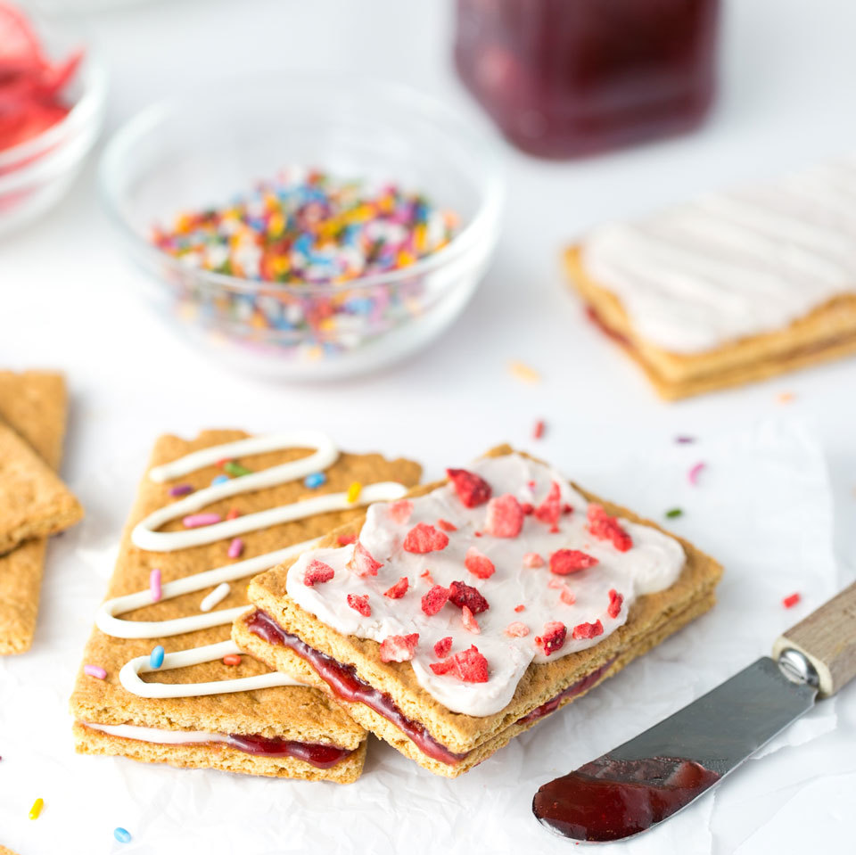 Healthier  Toaster Pastry  Graham Cracker Sandwich