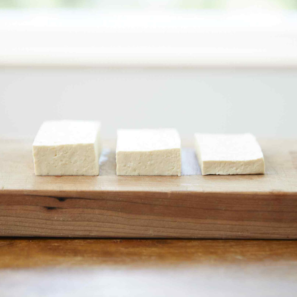 tofu at different levels of pressed
