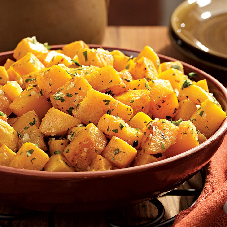 How to Make Oven-Roasted Squash with Garlic & Parsley