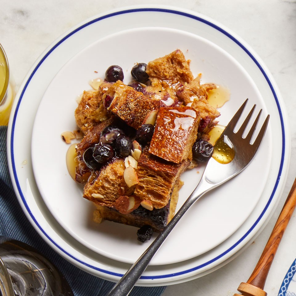 Blueberry-Almond Overnight French Toast