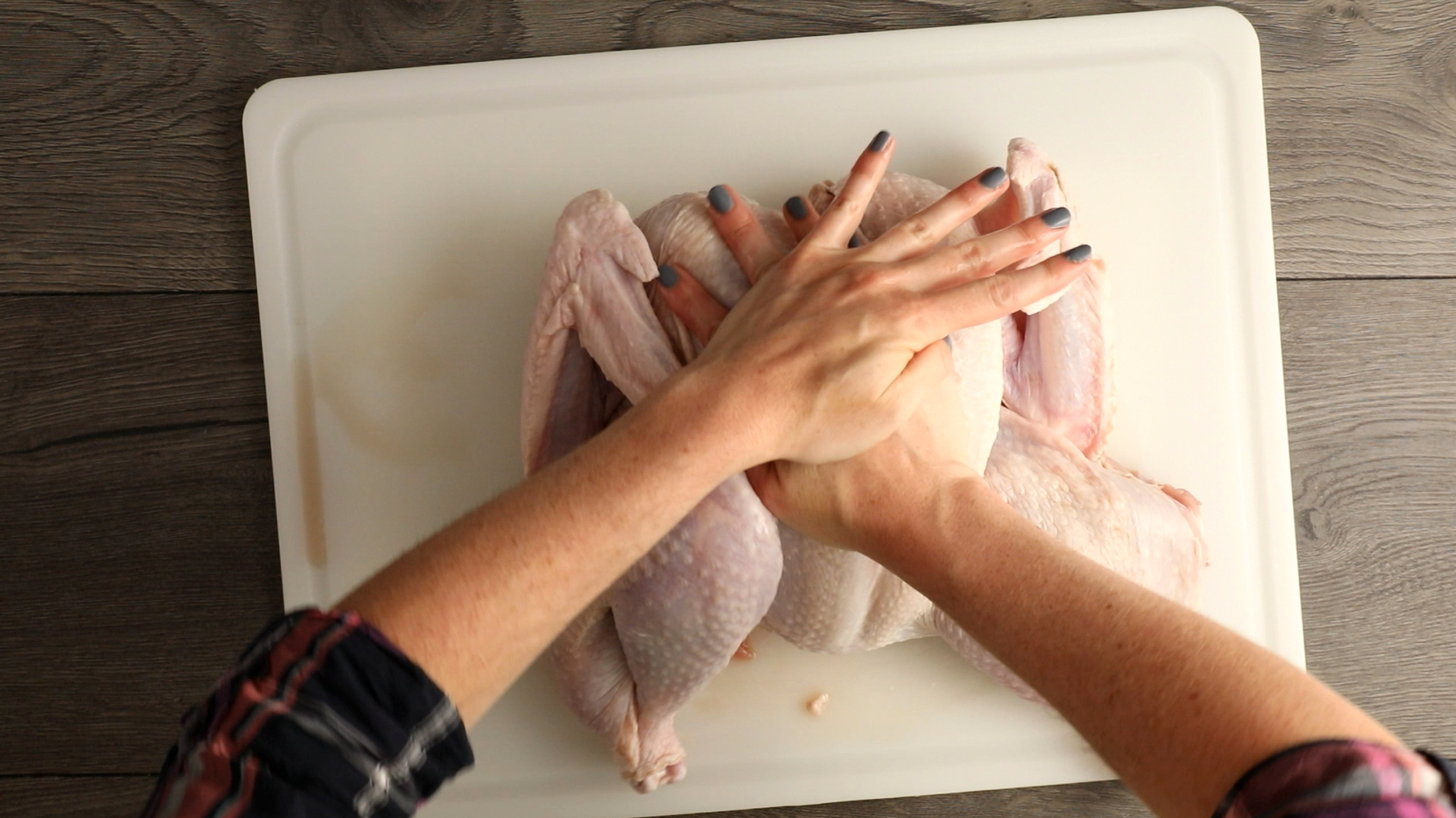 Breaking the Breast Bone of a Turkey