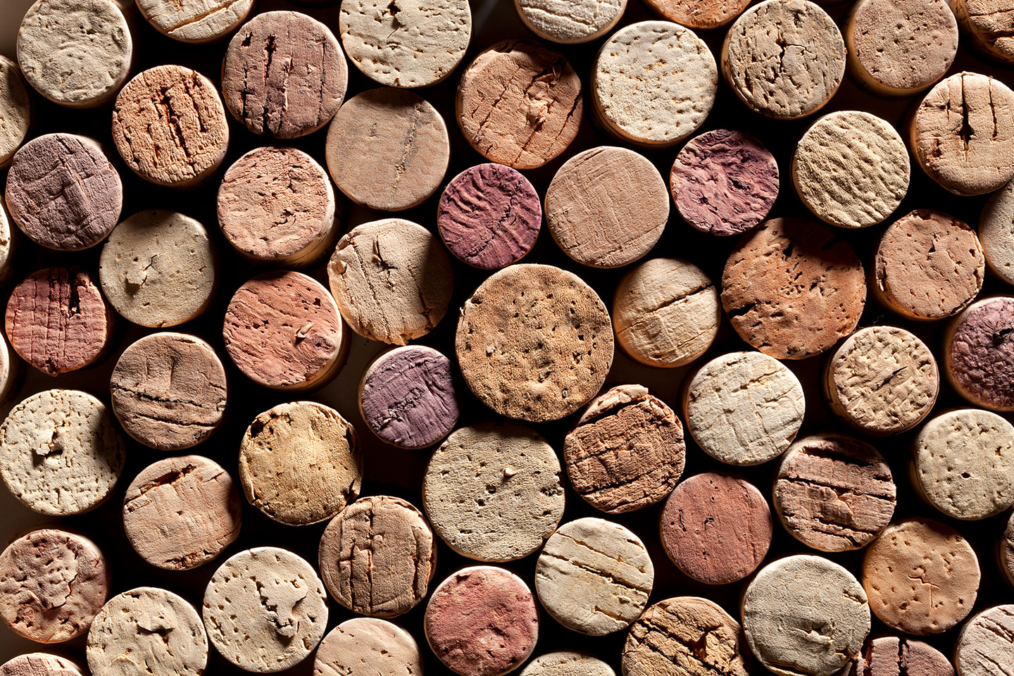 corks lined up