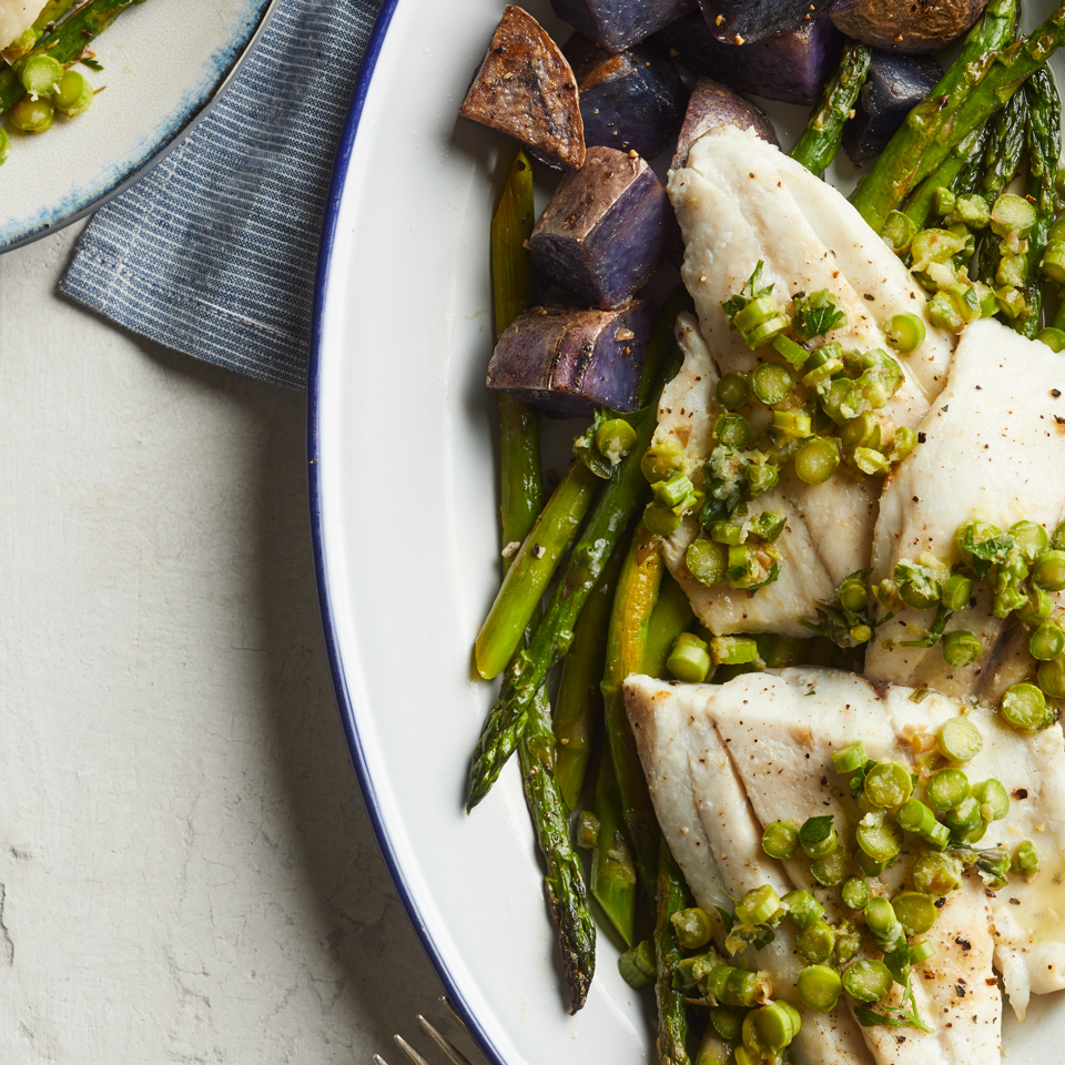 Roasted Barramundi with Asparagus Gremolata