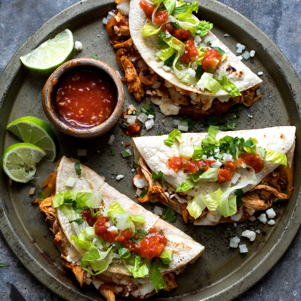 Chicken Tinga Quesadillas