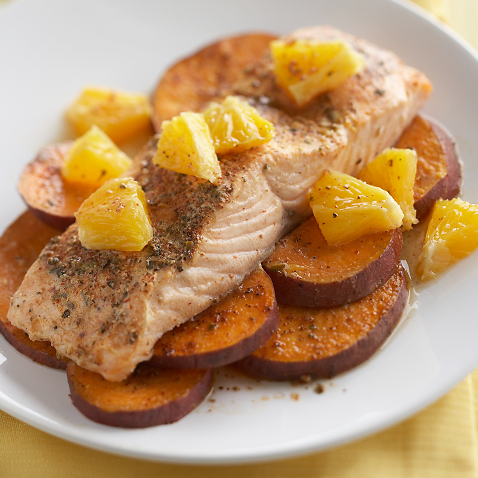 Southwest Salmon and Sweet Potatoes