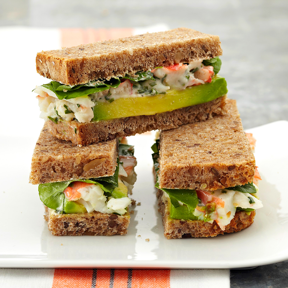 Crab, Avocado & Watercress Sandwiches