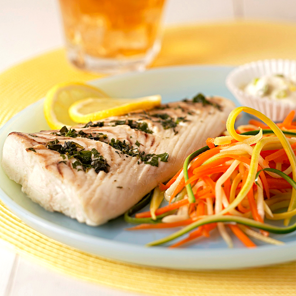 Herbed Fish and Vegetables with Lemon Mayo