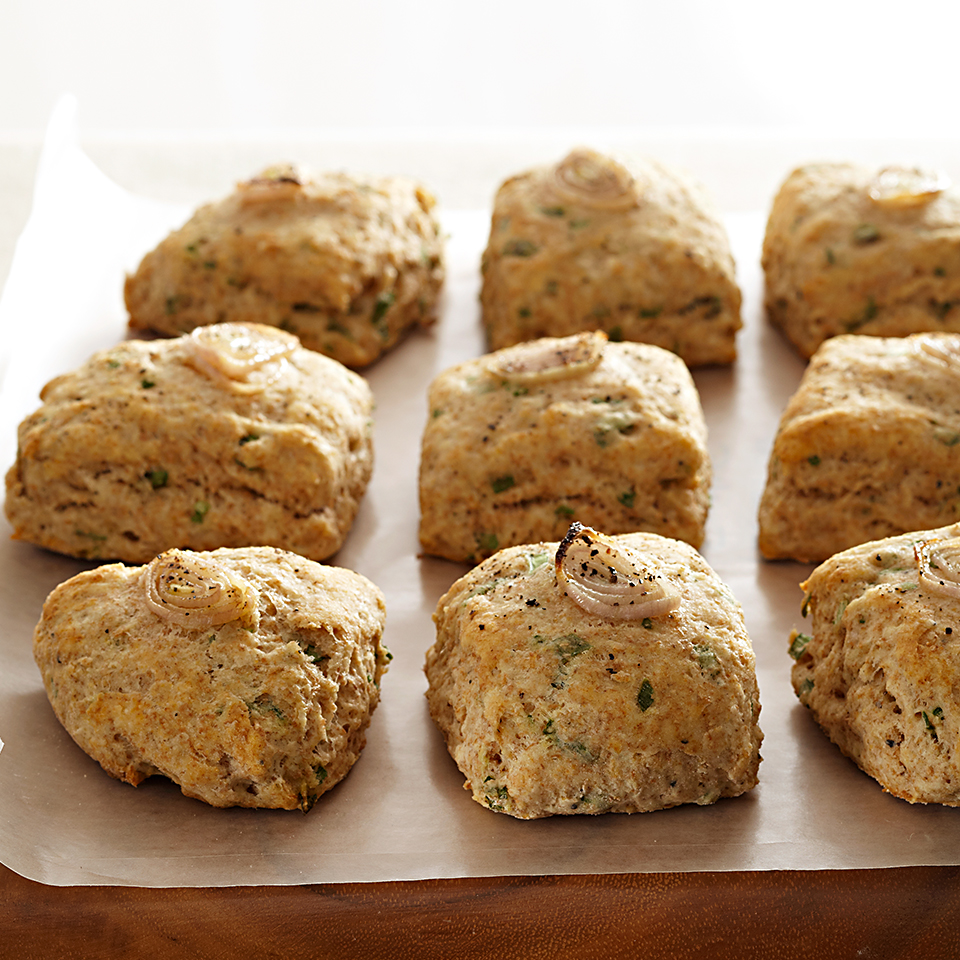 Peppery Shallot Scone Bites