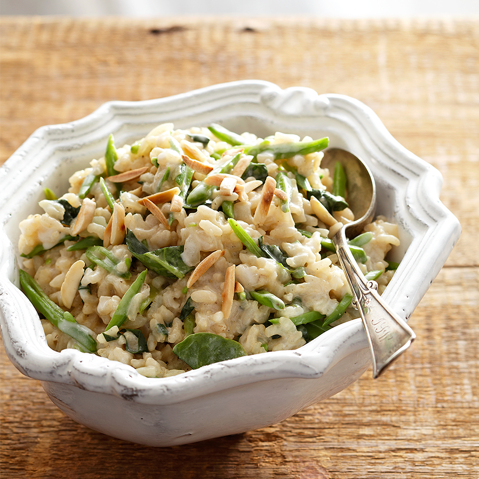 Creamy Coconut and Snap Pea Risotto
