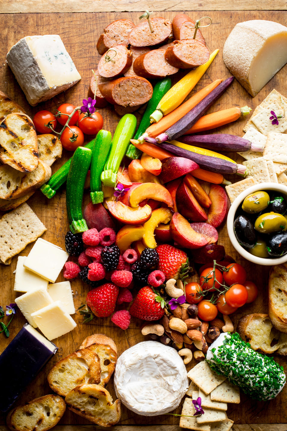 Cheese board with nuts