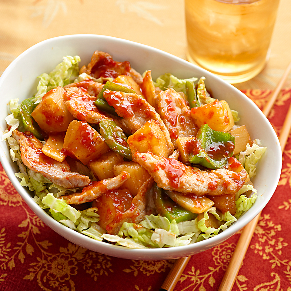 Sweet and Sour Pork with Cabbage