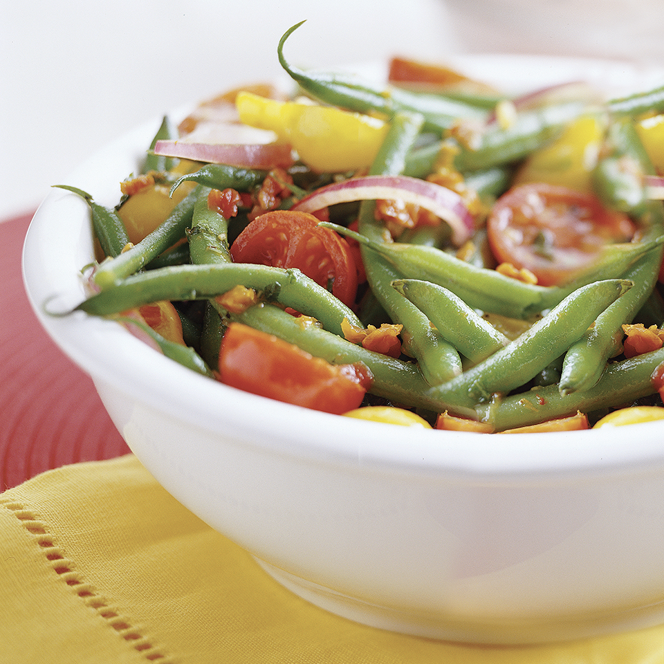 Green Bean Salad with Basil-Tomato Vinaigrette