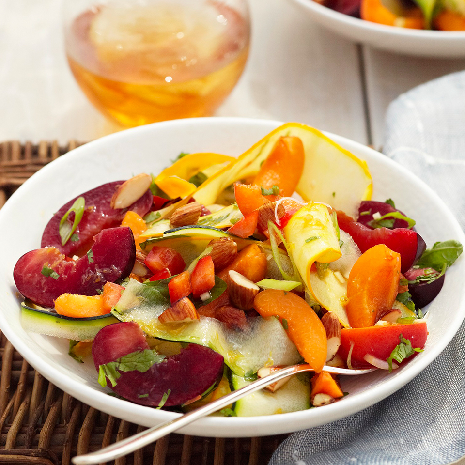 Spring Salad with Apricots, Almonds and Cilantro