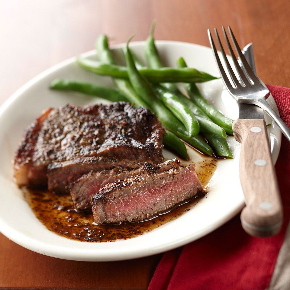 Herbed Steak With Balsamic Sauce Recipe Eatingwell