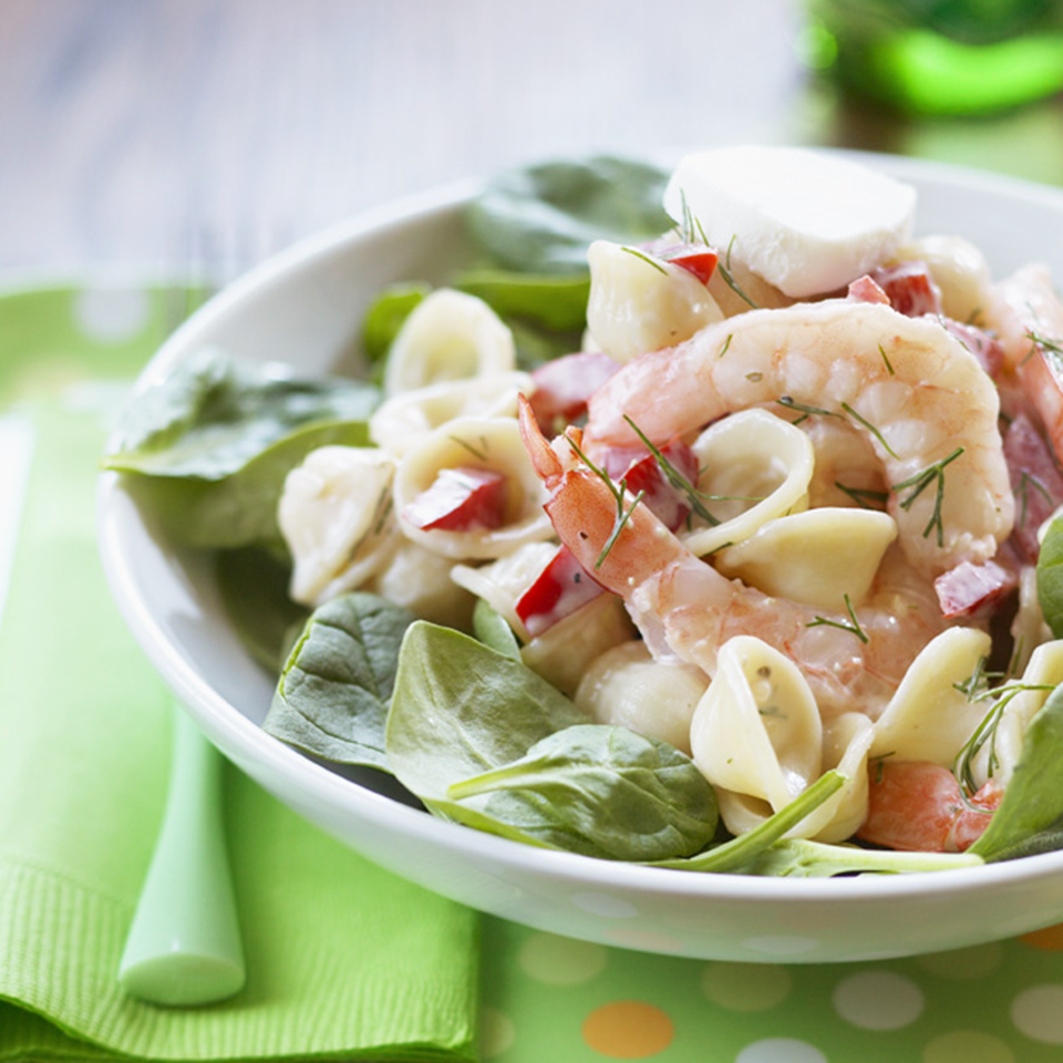Spinach-Pasta Salad with Shrimp