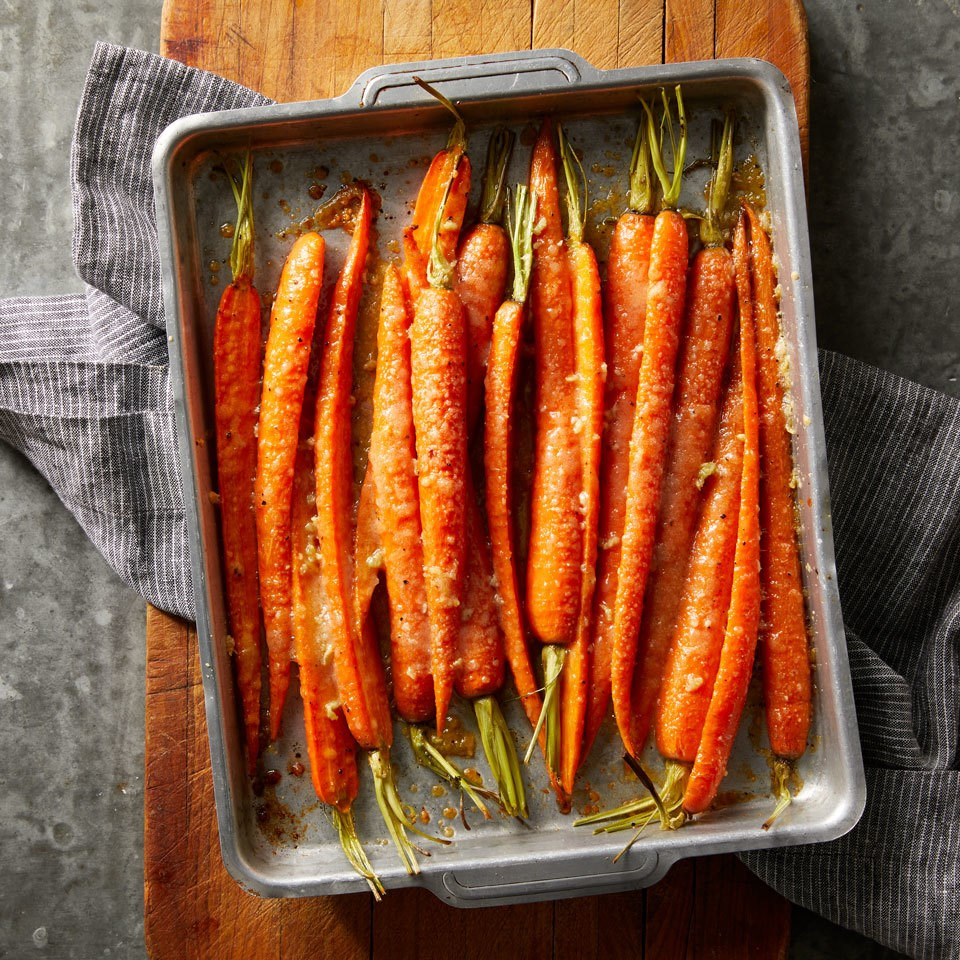 Garlic & Parmesan Roasted Carrots