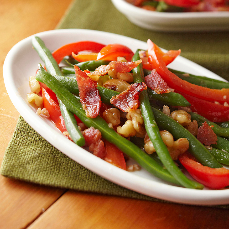 Green Beans with Bacon and Walnuts