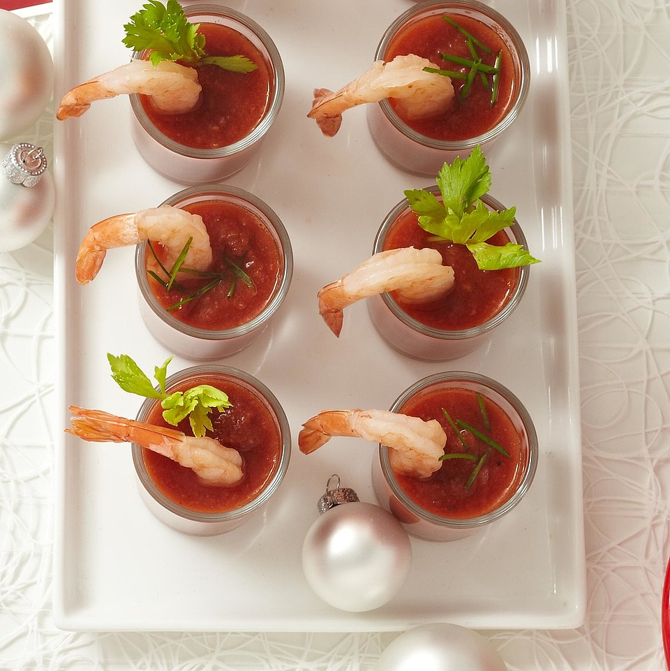 Shrimp and Tomato Shooters