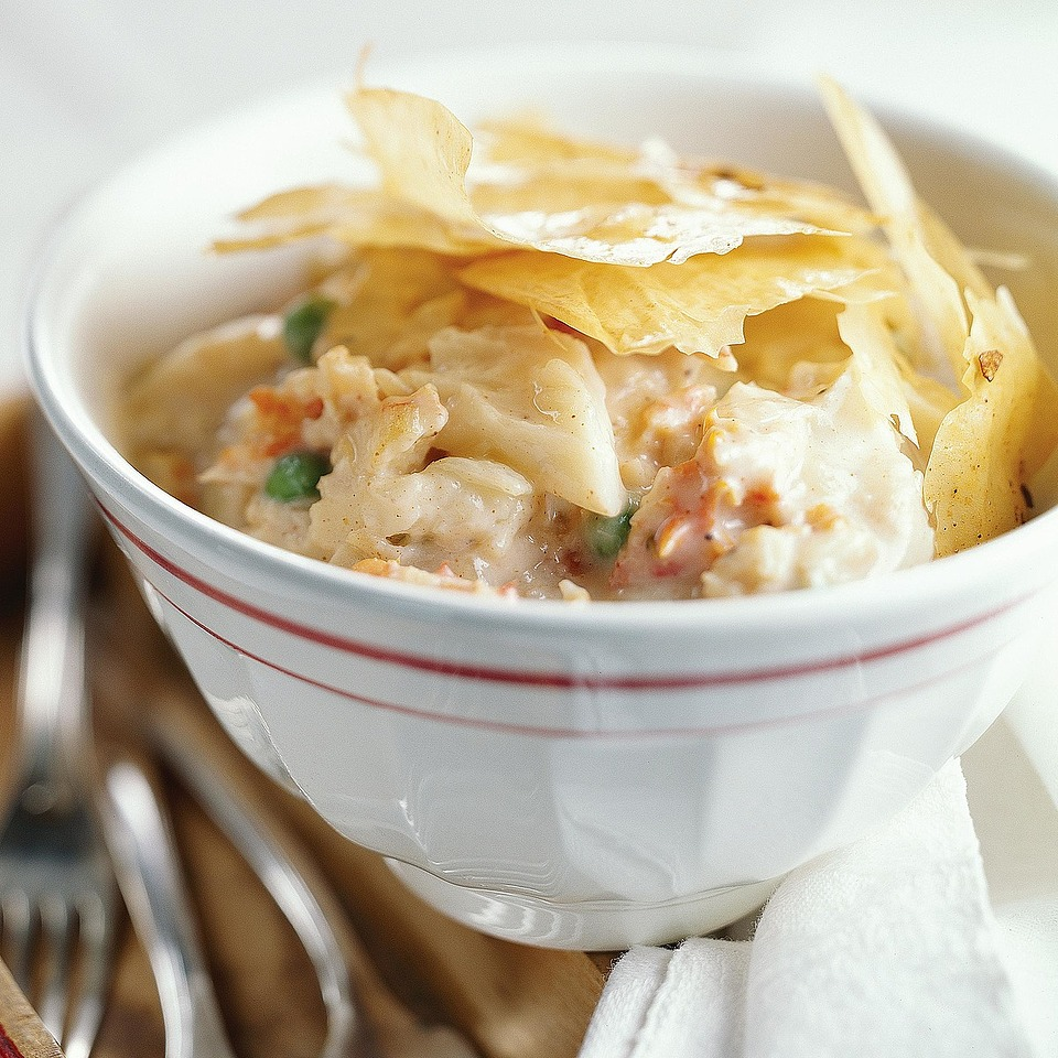 Phyllo-Crusted Crab Pie