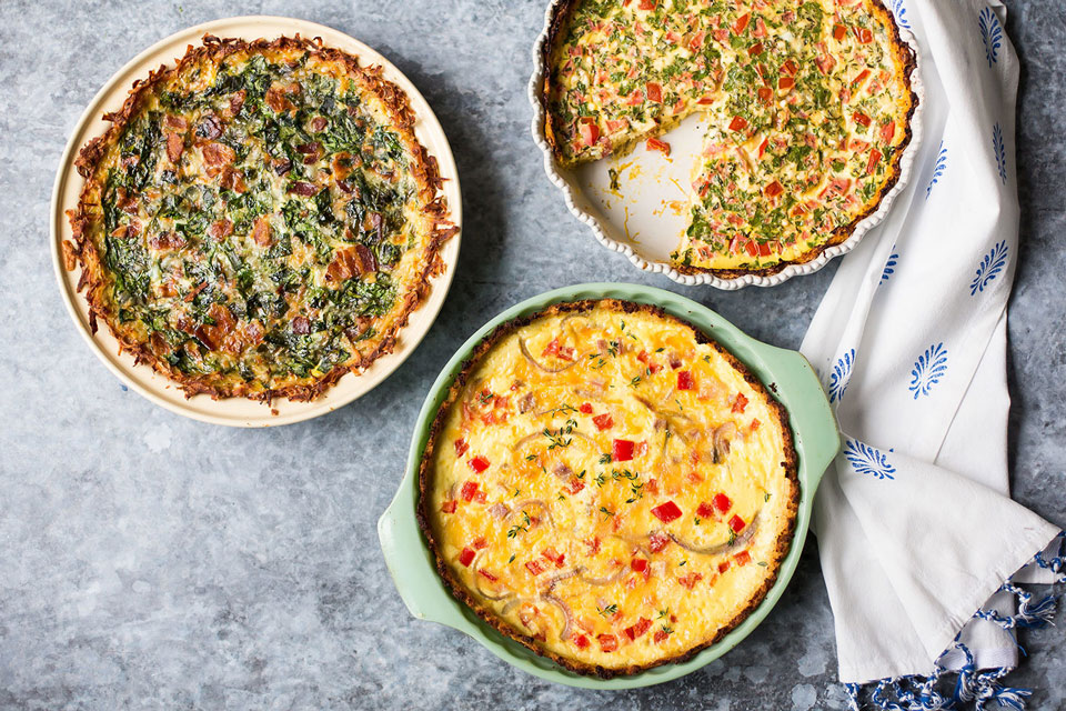 Cauliflower, Potatoes & More Veggie Crust Ideas for Your Quiche