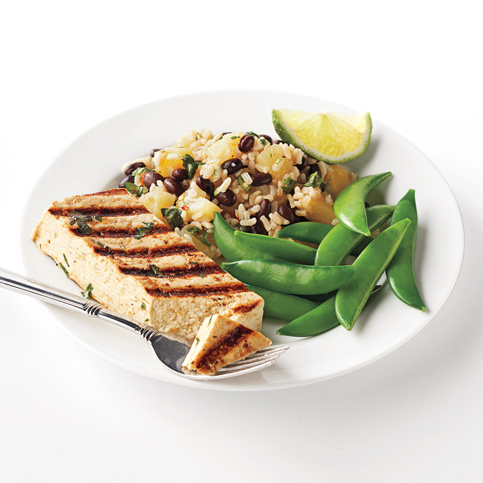Caribbean Tofu with Black Beans and Rice