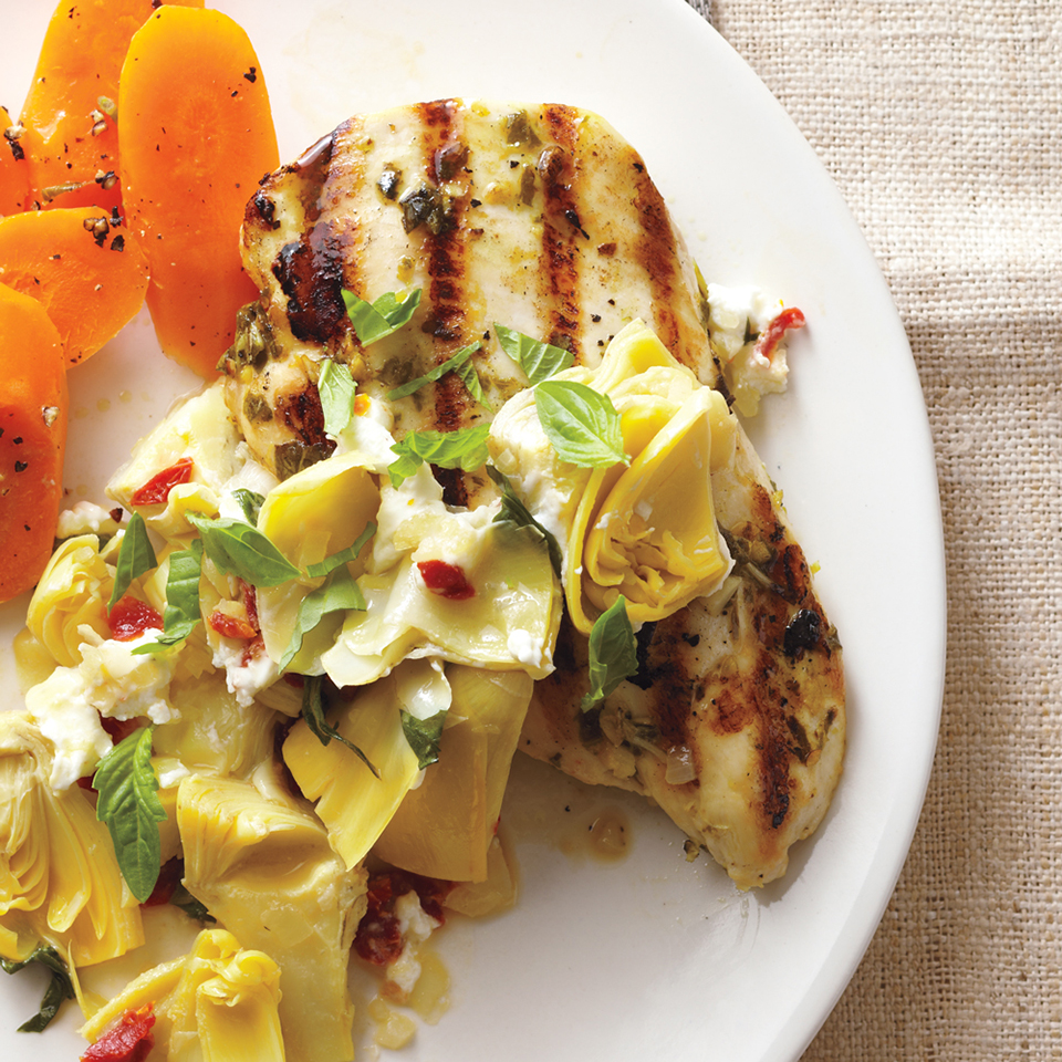 Artichoke-Chevre Chicken Breasts