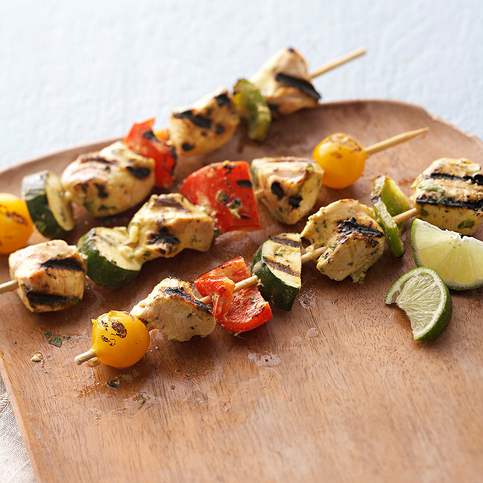 Curry-Lime Chicken Kebobs