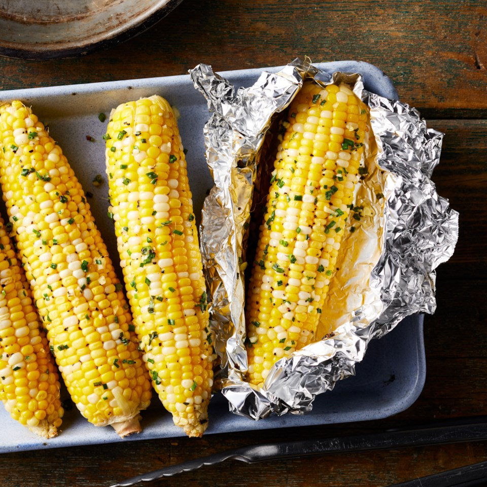 Garlic Butter Campfire Corn