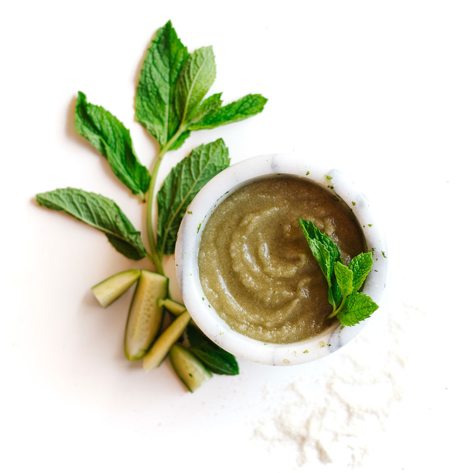 Cucumber-Mint Sugar Body Scrub