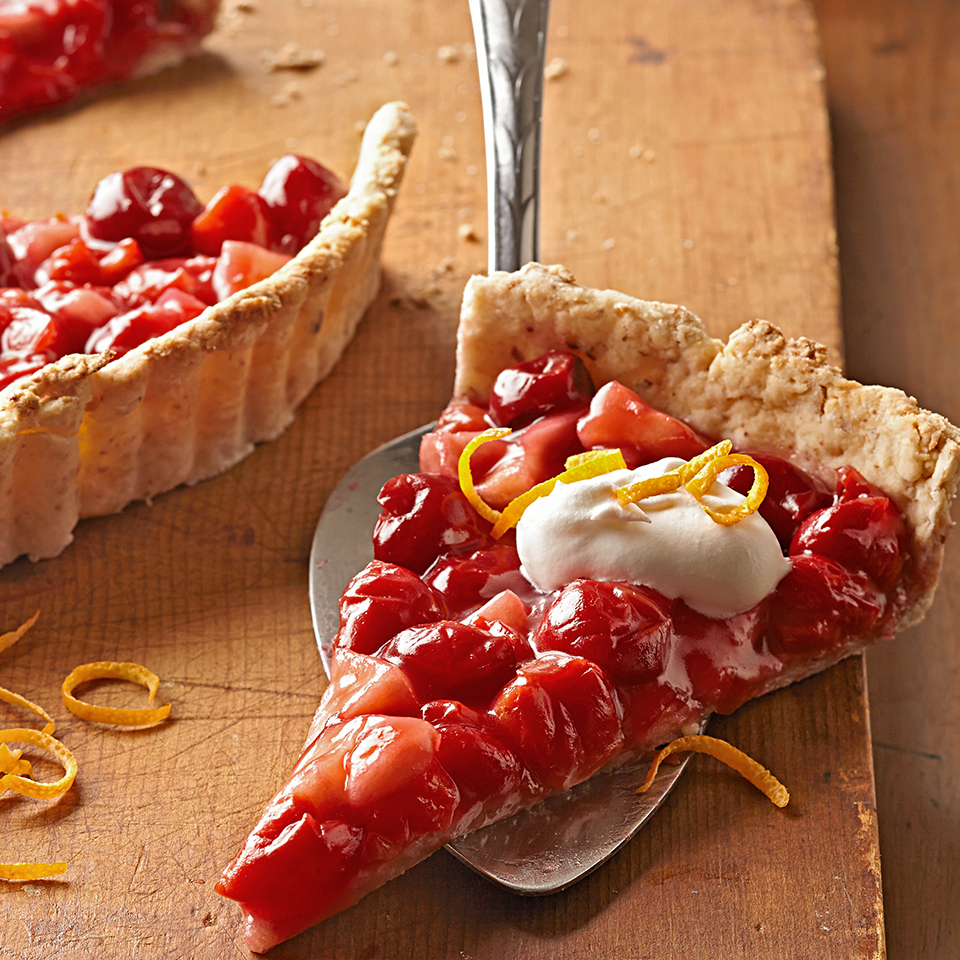 Cherry-Apple Tart with Baked Almond Crust