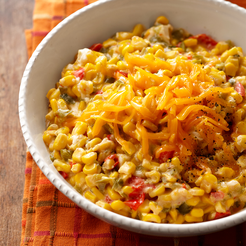 Cheesy Sweet Peppers and Corn