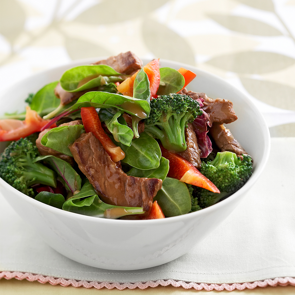 Gingered Beef and Broccoli Salad Bowl