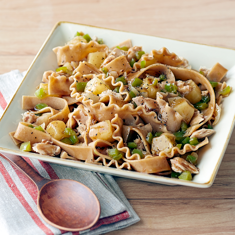 Honey, Asian Tuna & Pineapple Pasta