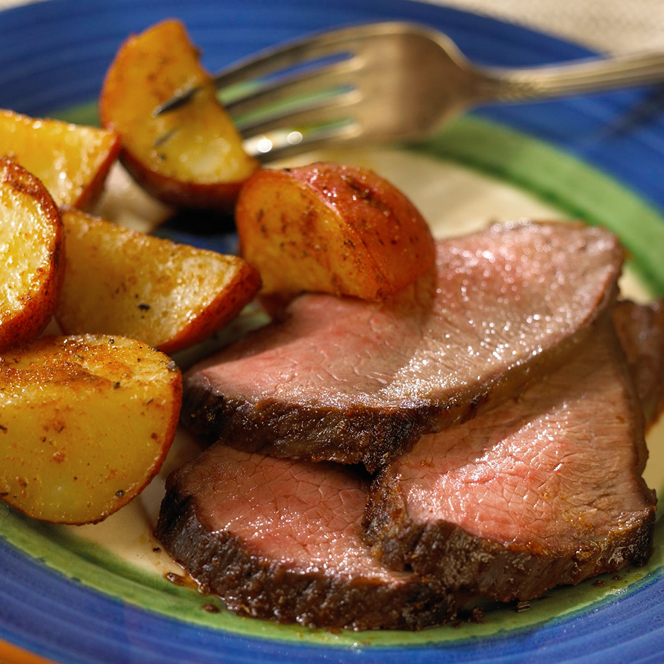 Roast with Spicy Potatoes