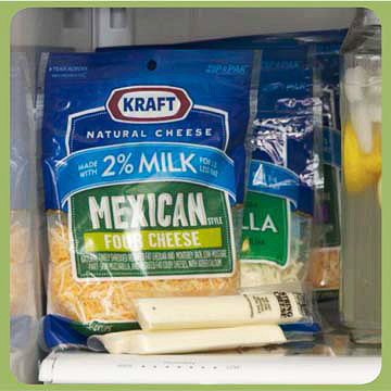 Shredded Cheese and String Cheese