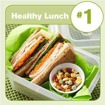 Healthy Lunch #1: Turkey-and-Swiss Sandwich