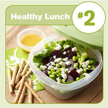 Healthy Lunch #2: Mixed Salad with Pretzel Sticks