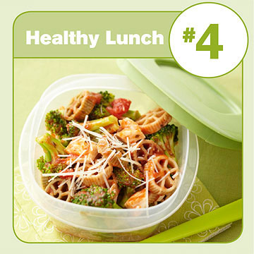 Healthy Lunch #4: Pasta with Chicken & Broccoli