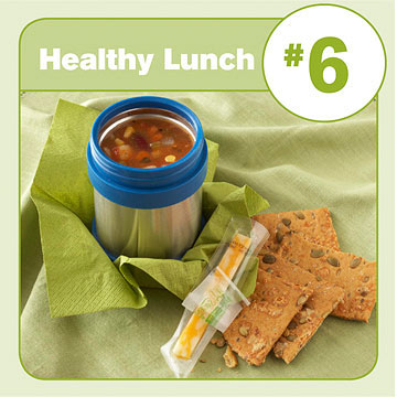 Healthy Lunch #6: Vegetable Soup & Cheese Stick