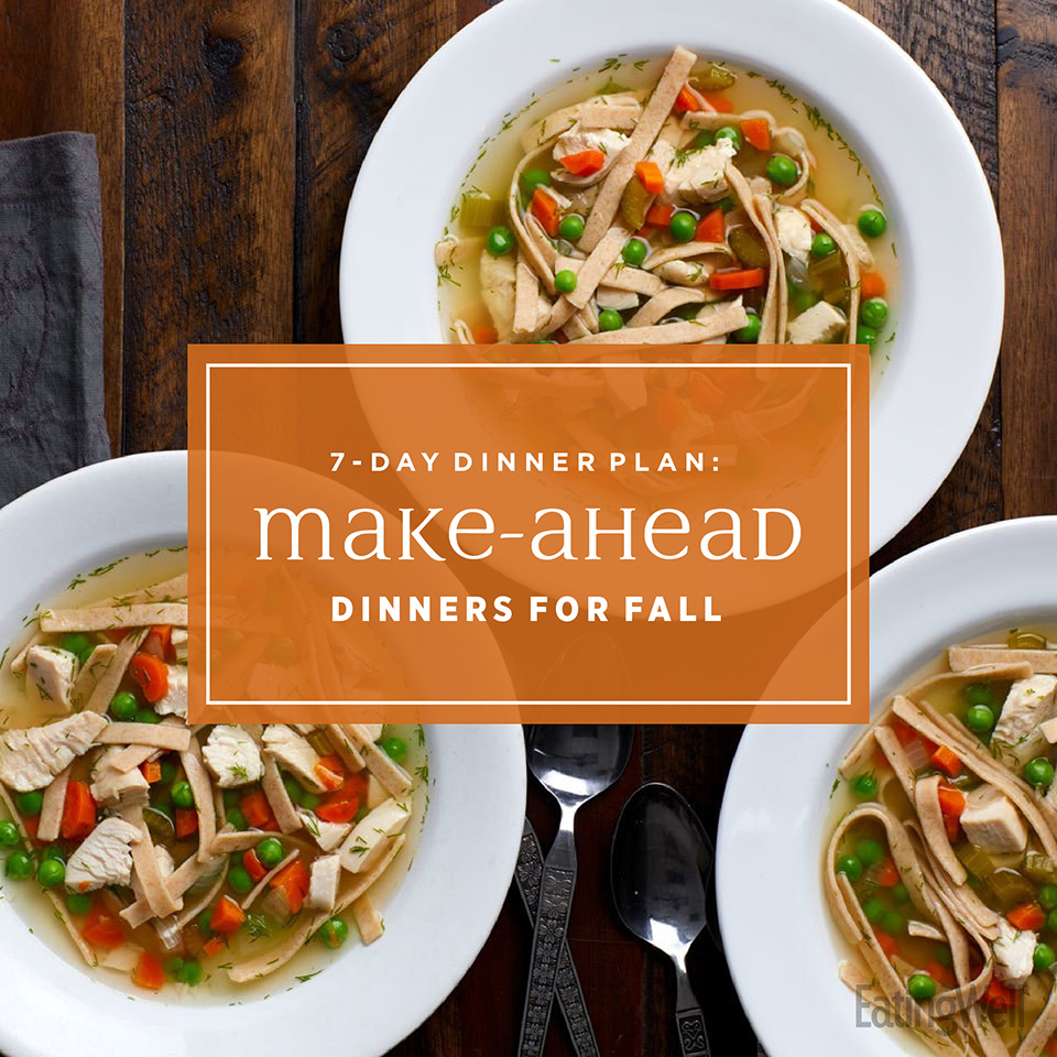 7-Day Dinner Plan: Easy Make-Ahead Dinners for Fall