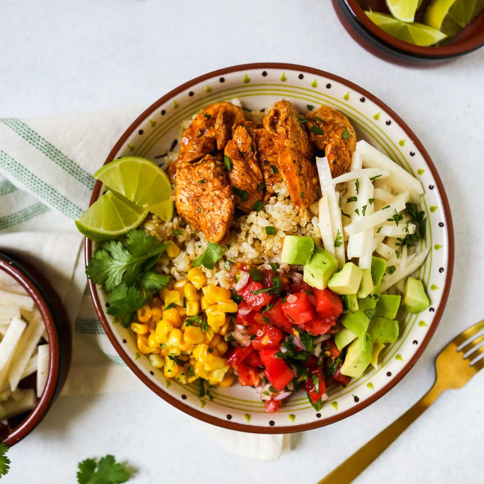 chili-lime chicken bowls